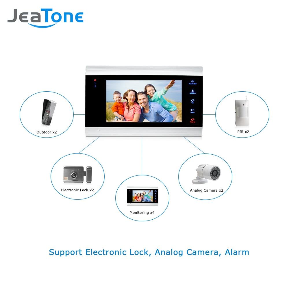 Купить с кэшбэком Video Doorbell Home Intercom Video Door Phone System 7 inch Monitor 1200TVL Doorbell Camera with Memory Card Video Intercom Kit