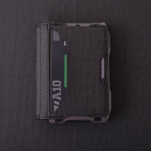 RFID Metal Cardholder Wallet Microfiber Credit Card Bifold Wallet Aerospace Aluminum ID Card Case Sim Men Business Badge Wallet