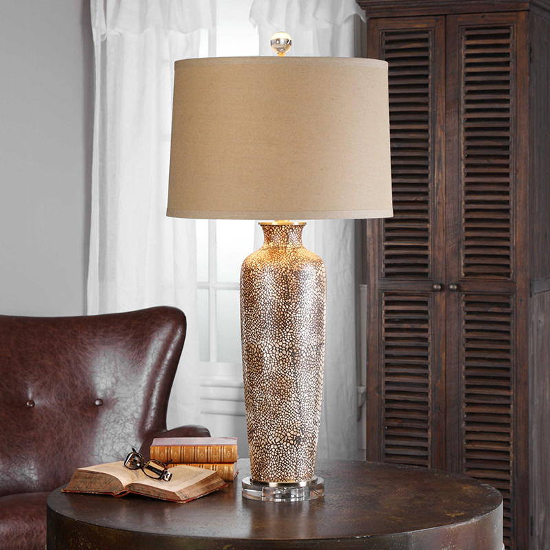 Modern Irregular Spot Texture <font><b>Ceramic</b></font> <font><b>Table</b></font> <font><b>Lamp</b></font> Crystal <font><b>Base</b></font> <font><b>Table</b></font> Lights For Living Room Bedroom Bedside Desk Lights Fixture image