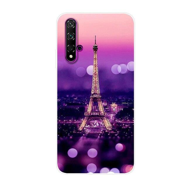 """For Huawei NOVA 5T Case 2019 Cover Soft Silicone Back Cover Phone Case on For Huawei Nova 5T 5 T 6.26"""" TPU Cover Nova5T Coque"""