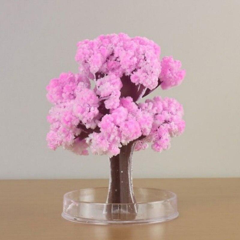 New1 DIY Paper Flower Artificial Magic Sakura Tree Desktop Cherry Blossom Kids Education Toys Fashion