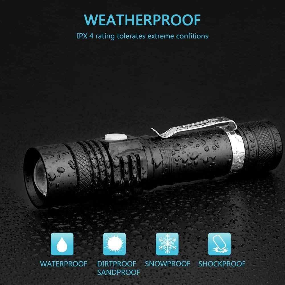 12000LM Super Brilhante lanterna Led USB Recarregável Lanterna tocha Linterna T6/L2/V6 Dicas De Alimentação Luz de Bicicleta Com Zoom 18650