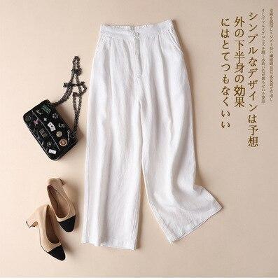 Black White Elegant Woman Harajuku Trouser Summer Spring OL Pants Solid Elastic Waist Wide Leg Pants