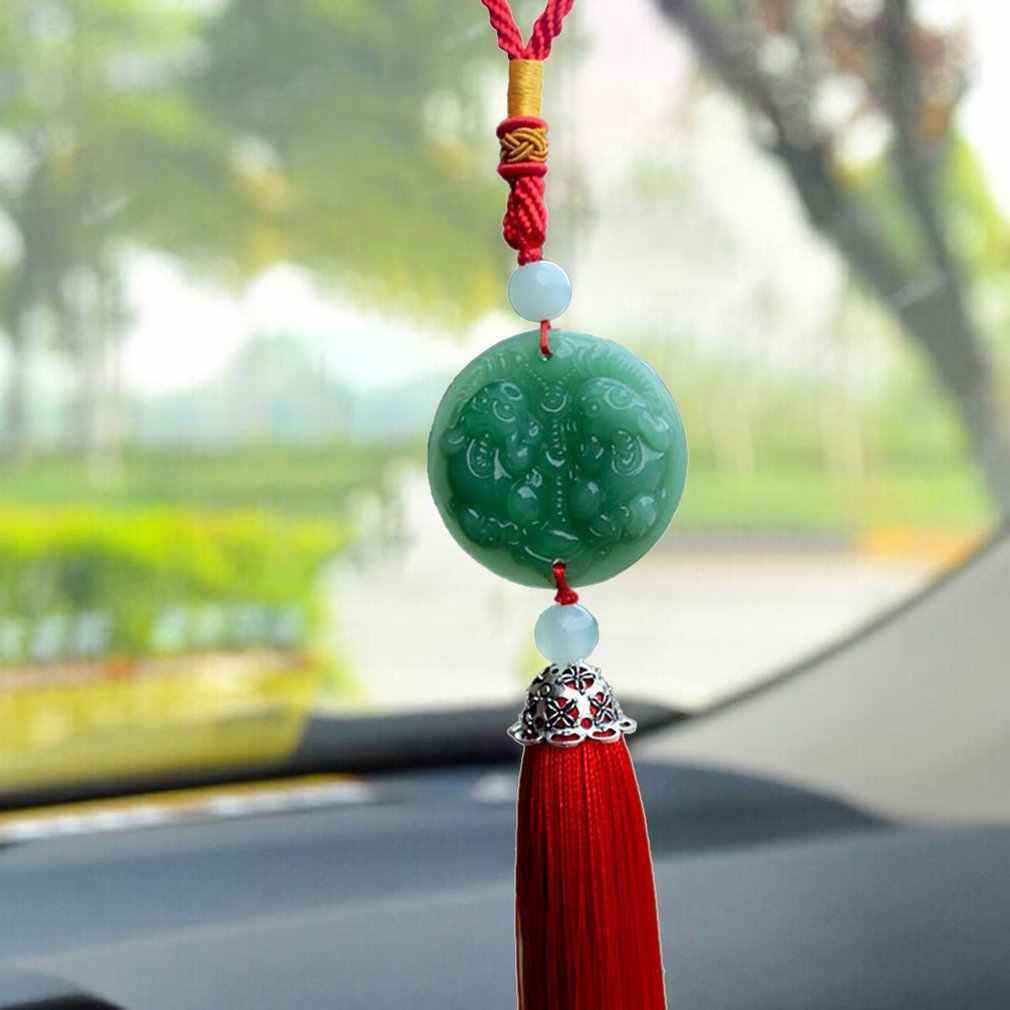 Auto Ornamenti creativi Pendente High-End Uomini di Giada di Cristallo Ornamenti Auto Ornamenti Buddha Accessori Auto