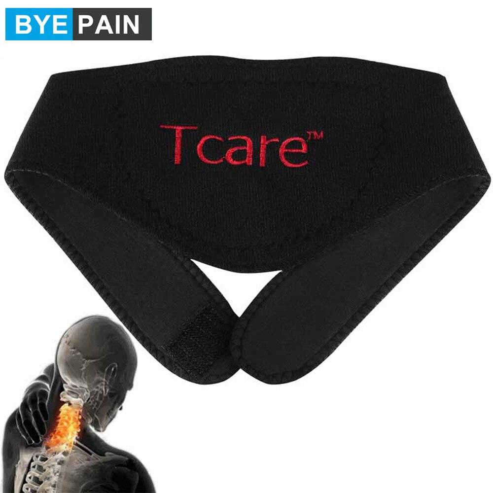 1 шт. BYEPAIN Турмалин магнитная терапия массажер для шеи Шейная защита позвонков спонтанный нагревательный пояс массажер для тела