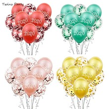 Twins NEW 10pcs 12inch 2020 Number Latex Balloons Digit Air Happy New Year Christmas Party Decorations Ball