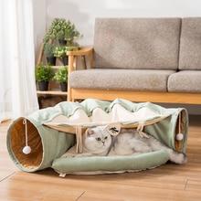 แมวอุโมงค์พับผ้าฝ้ายแมวนุ่มสบายสัตว์เลี้ยงไม่ได้เบื่อที่น่าสนใจInteractiveเล่นของเล่น