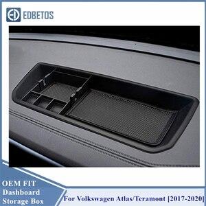 Image 3 - * Teramont لوحة القيادة صندوق تخزين منظم ل Volkswagen أطلس 2018 2019 الداخلية حامل هاتف وحدة التحكم المركزية صينية
