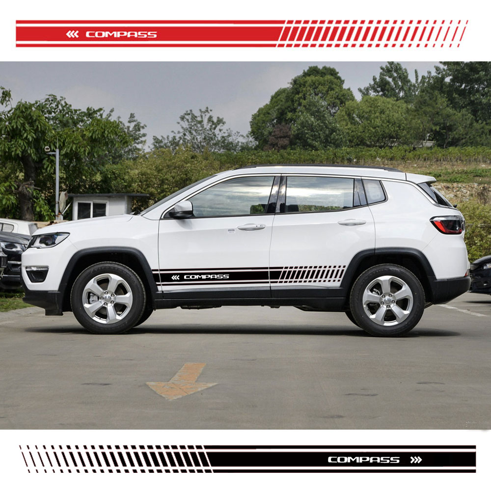 Car Sticker Stylish car body sticker vinyl body decal Side Sticker Stripes Stickers For Jeep Compass Car Styling|Car Stickers| |  - title=