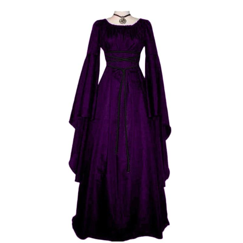 Medieval Women Retro Vintage Renaissance Gothic Dress Costume Gown Plus Size Female Dress gown