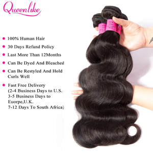 Image 2 - Big 6x6 Closure And Bundles Queenlike Hair Brazilian Body Wave With 6*6 Lace Closure Remy 3 Human Hair Bundles With Closure