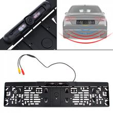 Auto Parktronic EU Car License Plate Frame Rear View Camera HD Night Vision Reverse Backup Rearview Camera with 4 IR Light waterproof european license plate frame rear view camera auto car reverse backup parking rearview camera night vision 170 degree