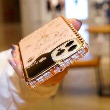 아이폰 11 12 프로 맥스 12 미니 X XR XS 케이스 블링 다이아몬드 범퍼 라인 석 뱀 인레이 금속 프레임 미러 메이크업 뒷면 커버, 아이폰 11 12 프로 맥스 12 미니 X XR XS 케이스