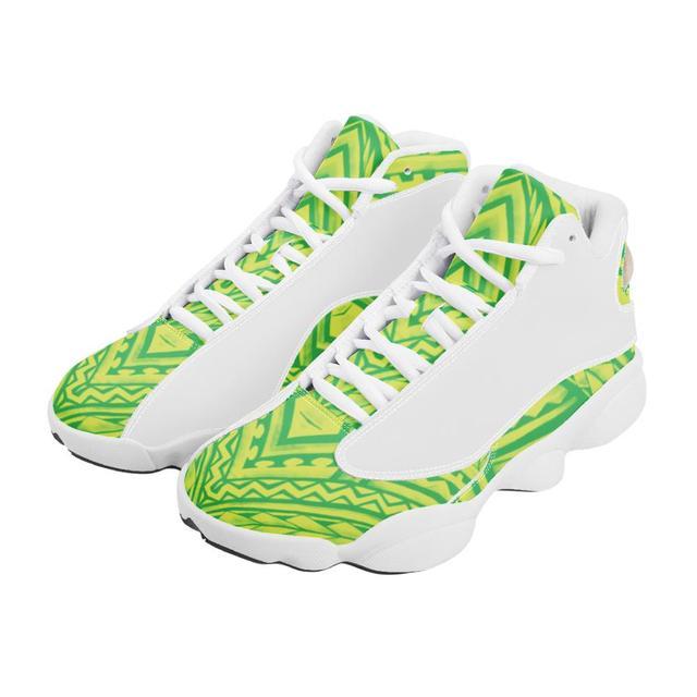 De calidad superior de la Polinesia Samoa estilo Tribal niño zapatillas de deporte Zapatos de bola Logo de equipo deportivo de Baloncesto de los hombres zapatos deportivos 4