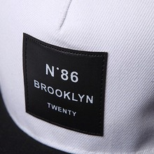 Men Womens BROOKLYN Letters Solid Color Patch Baseball Cap Hip Hop Caps Leather Sun Hat Snapback Hats