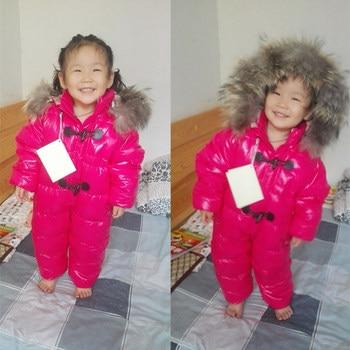 Winter Fur Hooded Snowsuit for Babies 4