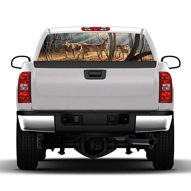 Купить задний окно графическая наклейка лес мужской стикер оленя для картинки цена