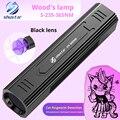 Uv 365nm wood's lâmpada gato ringworm detector lanterna elétrica médico da pele do animal de estimação detector de urina bateria de lítio recarregável embutida