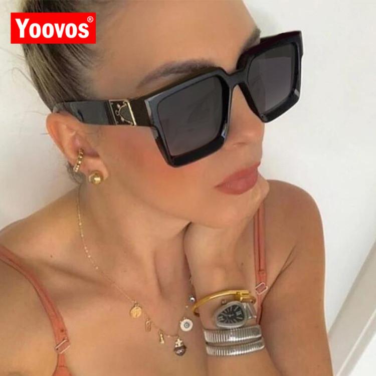 Yoovos Vintage Sunglasses Women 2021 Square Brand Designer Women Sunglasses Luxury Mirror Retro High Quality Female Oculos