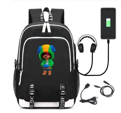 New Anime Game Character Leon <font><b>Backpack</b></font> Men <font><b>Women</b></font> Travel <font><b>Laptop</b></font> Shoulder Bag Kids Teens School Bags Bookbag Gift image