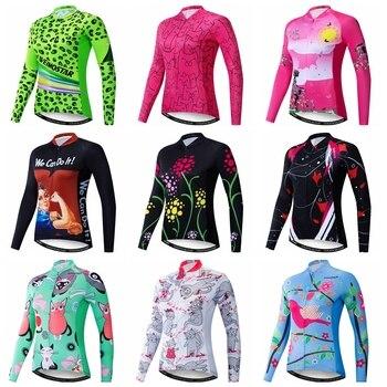 Ropa de Ciclismo para Mujer, Jersey de manga larga para Ciclismo de...