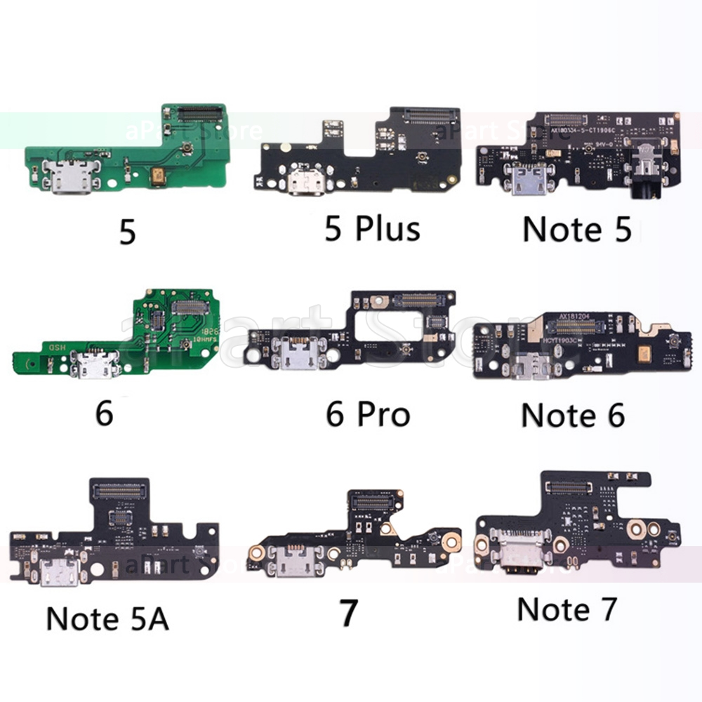 Original For Xiaomi Mi Redmi Note <font><b>5</b></font> 5A <font><b>6</b></font> 7 Plus Pro Global <font><b>USB</b></font> Date Charging Port Charger Dock Connector Flex Cable Replacement image