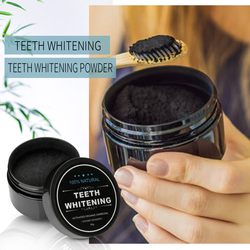 Natural Teeth Whitening Kit Activated Charcoal Powder 30g Advanced Oral Hygiene Care Tooth Whitener Dental Set With Toothrush