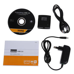 Printers Network-Lpr USB for LAN Share Black Usb-2.0