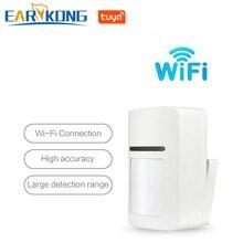 Tuya inteligente wifi detectores infravermelhos sensor de movimento alarme compatível com tuyasmart app vida inteligente