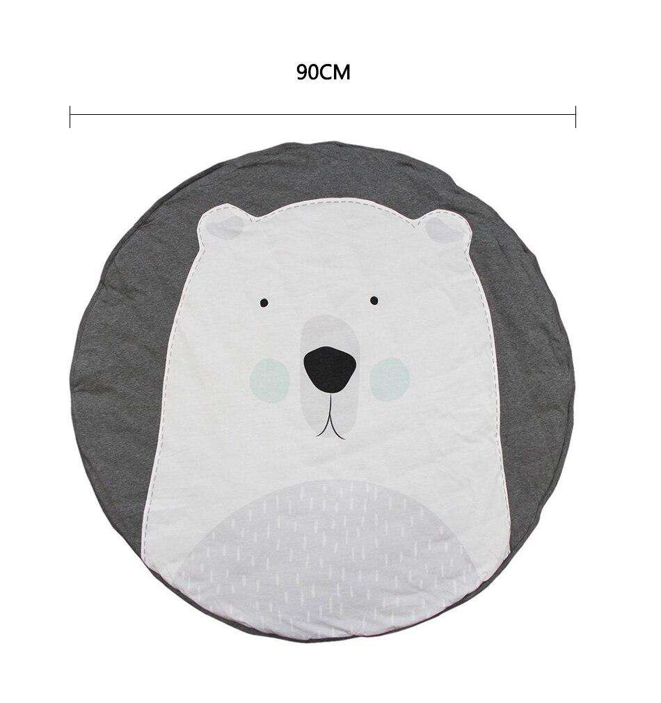 animal rodada tapetes do assoalho bebe cobertor 05