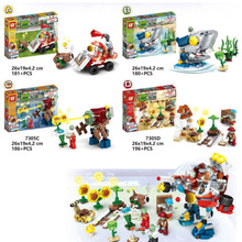 New Plants Vs Zombies Struck Legoinglys Game Toy Action Toy & Figures Building Blocks Bricks Brinquedos Toys Christmas Gift
