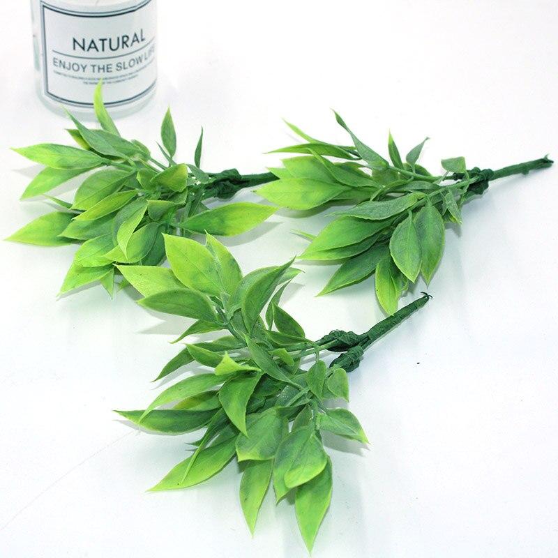 Искусственные зеленые листья мяты ручной работы, искусственные листья для свадебного украшения, венок «сделай сам», подарок, скрапбукинг, и...