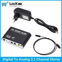 LccKaa-decodificador de Audio SPDIF Coaxial a RCA DTS AC3, 5,1 canales, amplificador digital óptico, convertidor y amplificador analógico, Audio HD