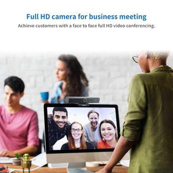 Webcam USB Web Camera Full HD 1080P 30FPS Webcam Web Cam with Microphone Clip-on 1/2.7 CMOS (Sony IMX307) PC Camera 120° Fov 4