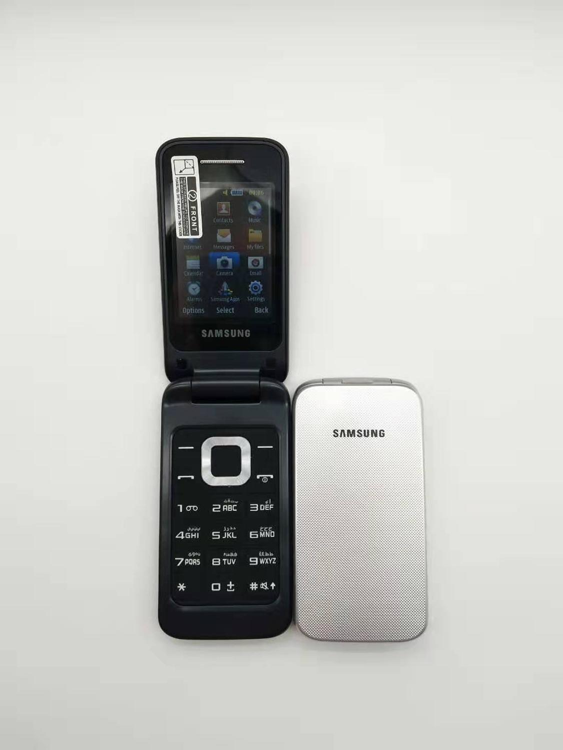100% Original Unlocked SAMSUNG C3520 Mobile Phone English Russian Keyboard & One year warranty Free shipping