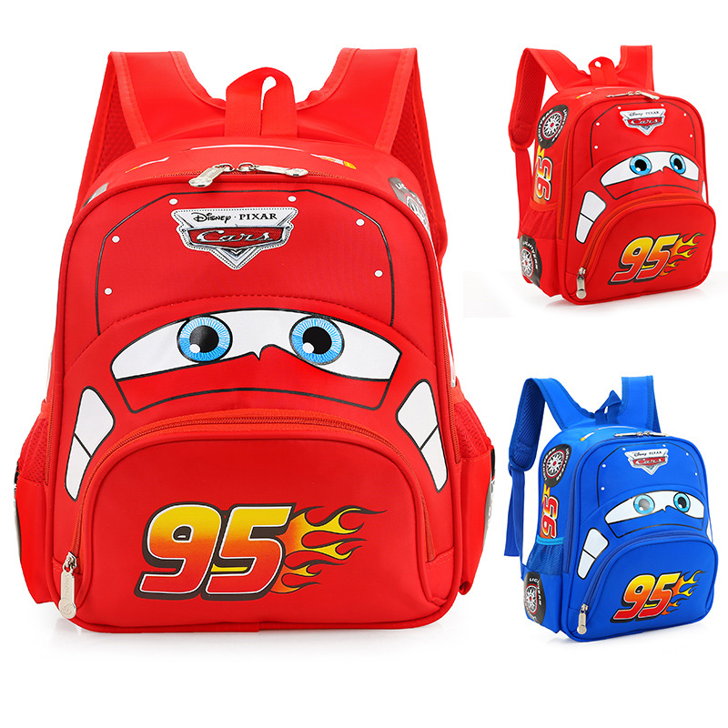 3D Car Children's Light School Bag Kindergarten Girl Boy Backpack Student 3-6 Years Old Cartoon Backpack Lightening Burden