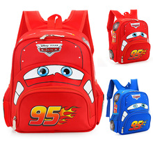 3D car children's light school bag kindergarten girl boy bac