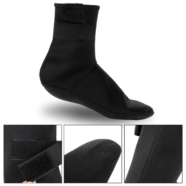 3mm Neoprene Diving Socks Non-slip Beach Boots Wetsuit Shoes Snorkeling Diving Surfing  3