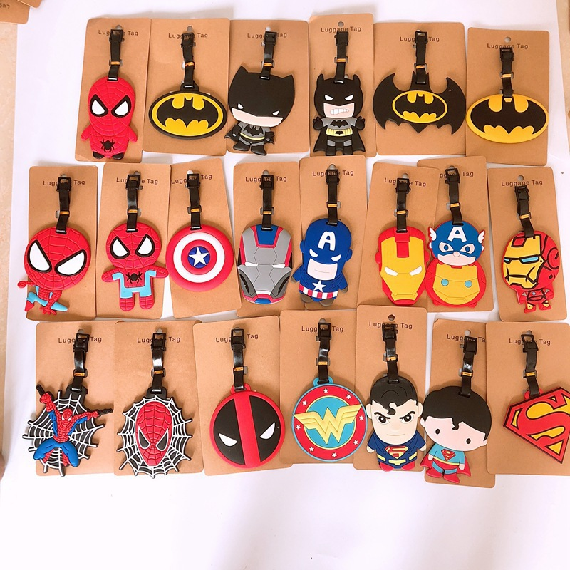 The Avengers New Pattern Luggage Tags Batman Design ID Tag Luggage Label Address Holder Identifier Label Travel Accessories