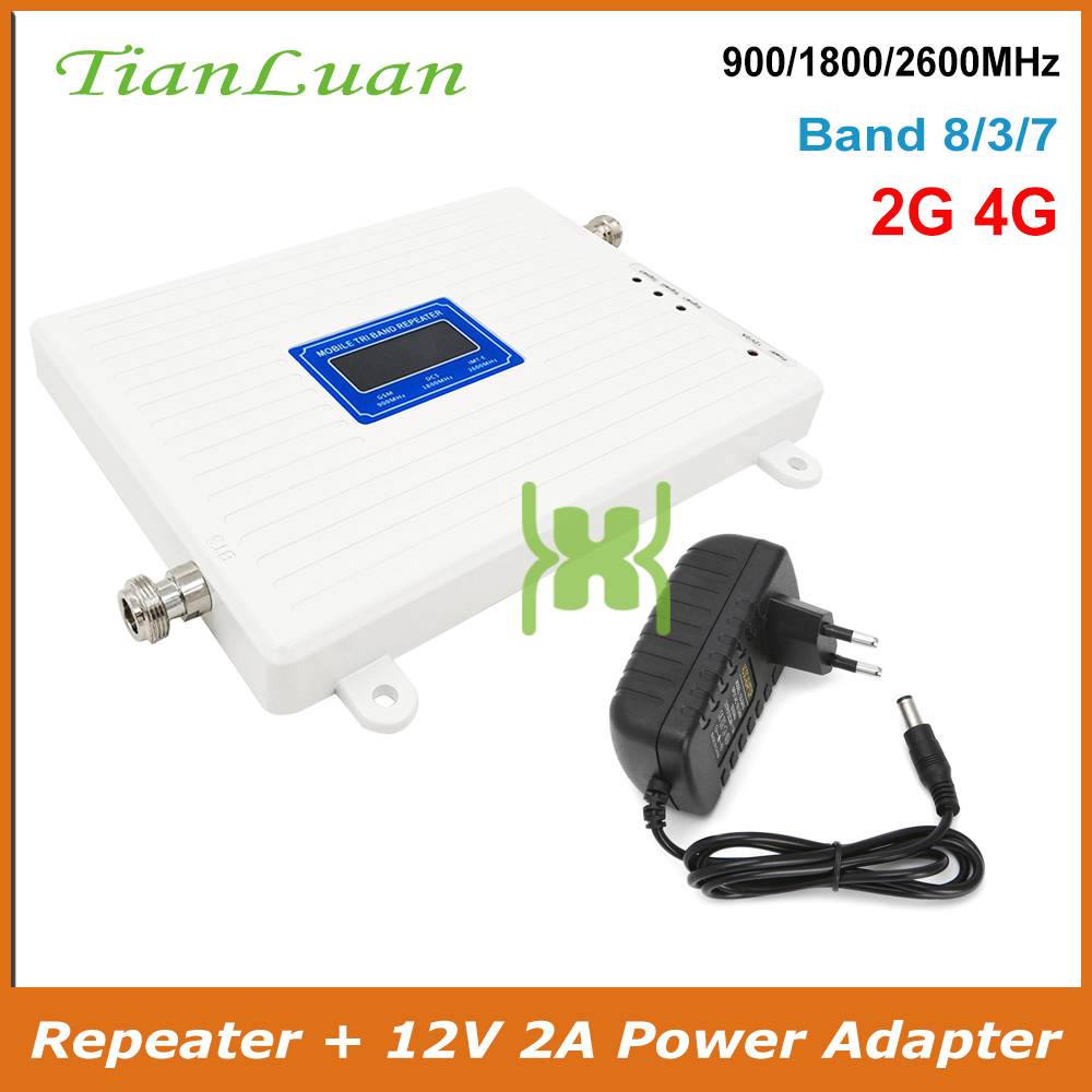 TianLuan Mobile Phone Signal Booster GSM 900 DCS 1800 FDD LTE 2600 MHz 2G 4G Cellular Signal Repeater Voice Network Data