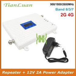 TianLuan wzmacniacz sygnału telefonu GSM 900 DCS 1800 FDD LTE 2600 MHz 2G 4G wzmacniacz sygnału komórkowego dane sieci głosowej
