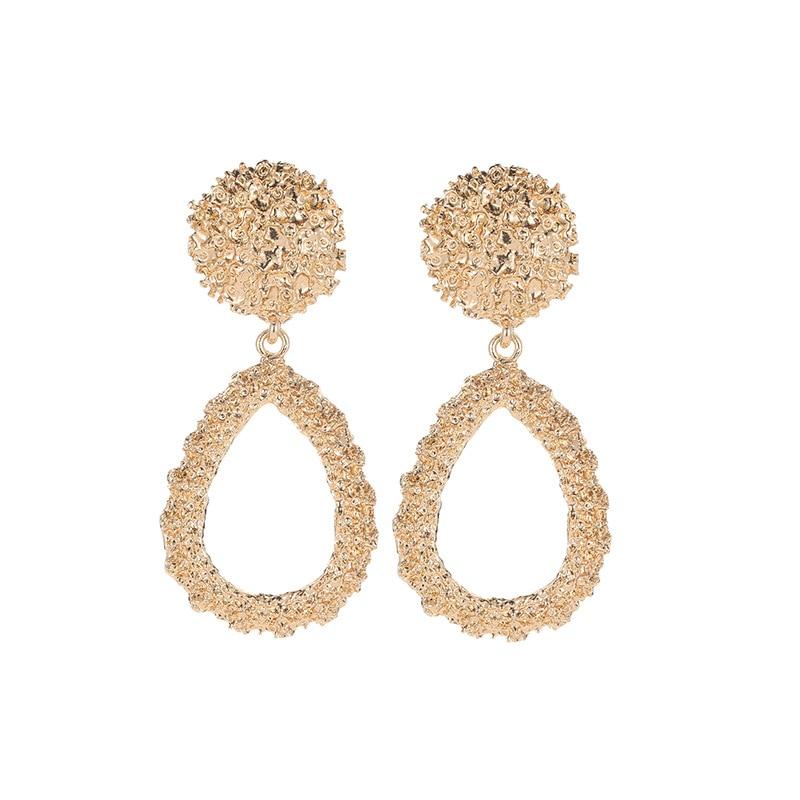2019 Clip on Earrings for Women Gold Silver Color Geometric Big Earrings Metal Statement Vintage Ear Clips Jewelry