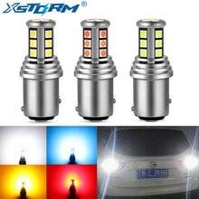 2Pcs Led 1156 BA15S P21W BAU15S PY21W 1157 BAY15D P21/5W Led Lamp R5W R10W Voor Auto signaal Drl Dagrijlicht 12V