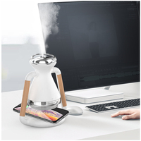 Luftbefeuchter USB ultraschall aroma diffusor Mit handy drahtlose lade hause nebel maker ätherisches öl diffusor Büro-in Luftbefeuchter aus Haushaltsgeräte bei