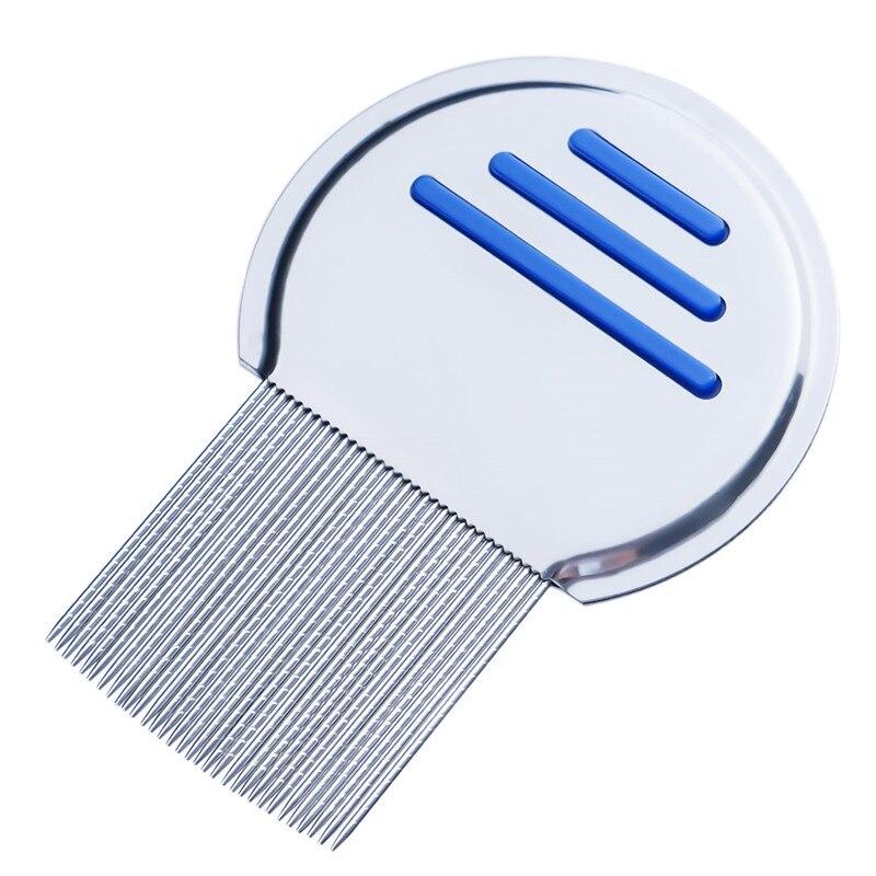 Лидер продаж, детский ограничитель волос из нержавеющей стали, расческа для вшей, без косточек, избавляющая от головы, супер плотность зубов, удаляет ниты, расческа инструменты для стайлинга - Цвет: blue