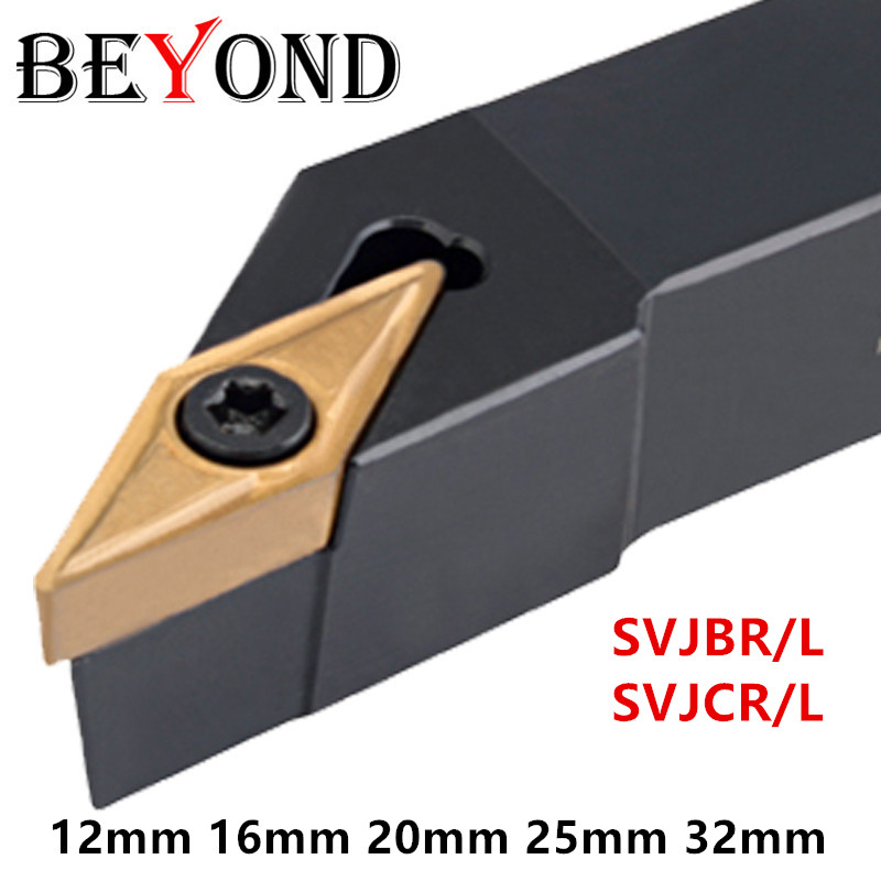 BEYOND SVJCR SVJBR2020 Lathe Cutter External Turning Tool Holder SVJCR1616H11 SVJCR2525M16 SVJBR Carbide Inserts VCMT VBMT Cnc