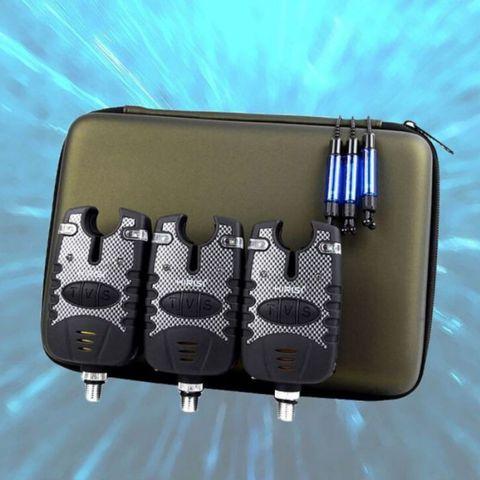 3 pcs set portatil a prova de chuva luz som alerta eletronico pesca mordida alarme
