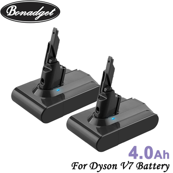 Bonadget 2Piece 21.6V 4000mAh Li-ion Replacement V7 Batteries For Dyson V7 Cordless Vacuum Cleaner Chargeable Tools Battery