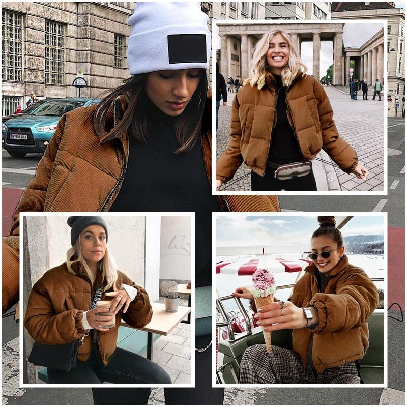 Casual Thick Parka Overcoat Winter Warm Fashion Outerwear Coats Street Wear Jacket coat female 19