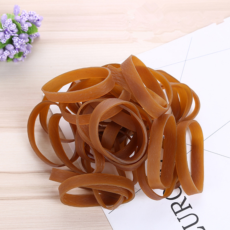 Solid Color 50*10mm Rubber Band Rubber Elastic Bands Stationery Holder Package Supplies Small Accessories